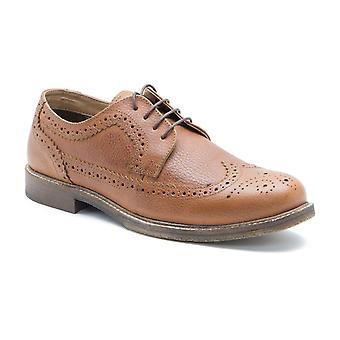 Red Tape Thorney Tan Honey Milled Leather Mens Derby Shoes