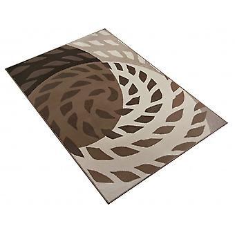 Design carpet spiral beige / Brown