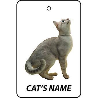 Personalised Burmilla Cat Car Air Freshener
