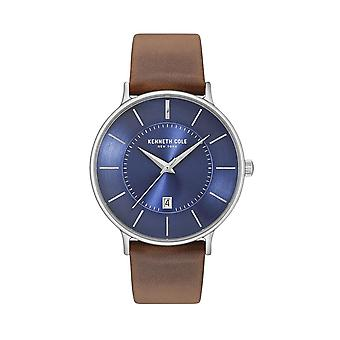 Kenneth Cole New York men's watch wristwatch leather KC15097001