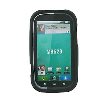 Rubberized Hard Case for Motorola Bravo MB520 - Black