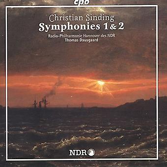 C. sinding - Sinding: Importación sinfonías nos. 1 & 2 [CD] Estados Unidos