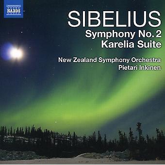 J. Sibelius - Sibelius: Symfoni nr 2; Karelia-sviten [CD] USA import
