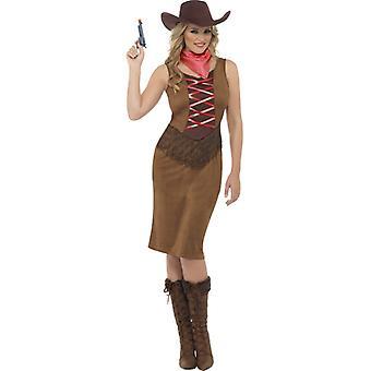 Cowgirl dress ladies Western Cowgirl leather look cowboy