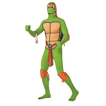 Michelangelo Teenage Mutant Ninja turtles tartaruga costume adulto pelle tesa