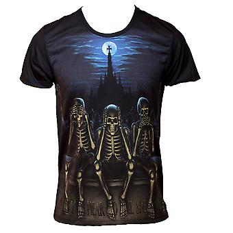 Wild Star - HEAR NO EVIL - Mens T-Shirt Tops - Black