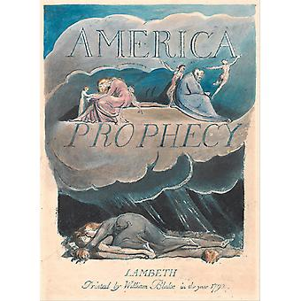 William Blake - America A Prophecy Cover Poster Print Giclee