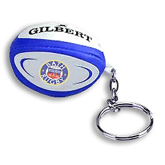 GILBERT bath rugby ball key ring