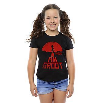 Marvel piger vogtere af galaksen jeg Groot rød T-Shirt
