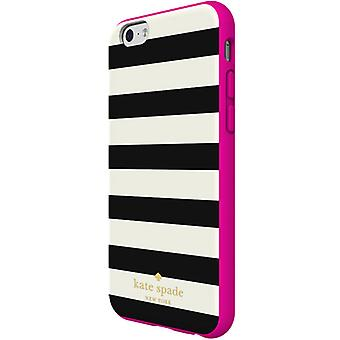 Kate Spade New York Flexible HardShell Case for Apple iPhone 6/6S (Stripe Black/