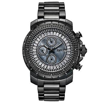 JBW men's diamond watch with black Swarovski Crystals