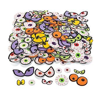 500 Self Adhesive Foam Spooky Eyeball Shapes | Outer Space Crafts