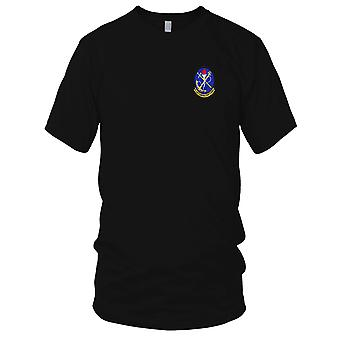 US Navy HSL-33 Helicopter Anti-Submarine Squadron Light Embroidered Patch - Mens T Shirt