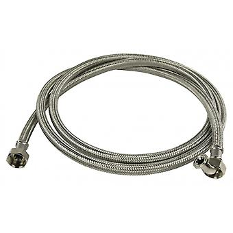 HQ inlet hose stainless steel 3/4 '' 3/4 '' Straight-Angled 10 bar 90 ° C 2.00 m