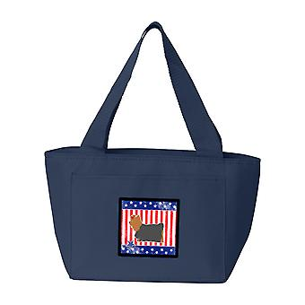 USA Patriotic Yorkshire Terrier Yorkie Lunch Bag