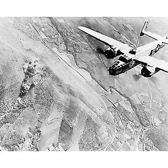 B-25 Bomber Bombing Tivoli Outside Rome Italy WWII Poster Print by McMahan Photo Archive (10 x 8)