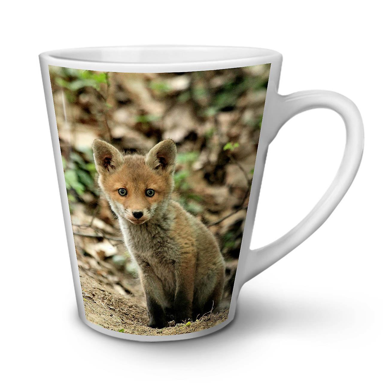 Tasse 12 Fox Céramique OzWellcoda De Photo En Café Blanche Mignon Nouvelle Latte Animal R5AjL34
