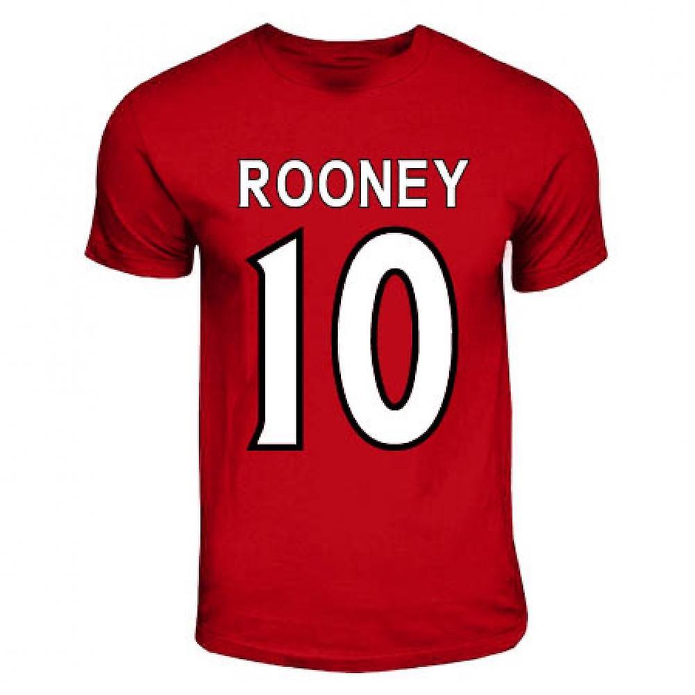 Wayne Rooney Manchester United hjälte T-shirt (röd)