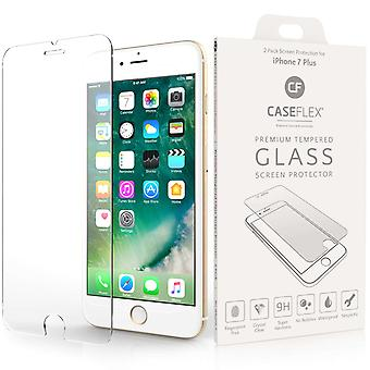 Caseflex iPhone 7 Plus glasskærm beskytter - Twin Pack