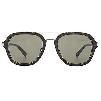 Marc Jacobs Square Pilot Sunglasses In Dark Havana Green