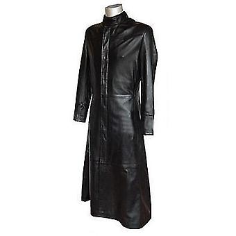 Annaa Womens Leather Coat