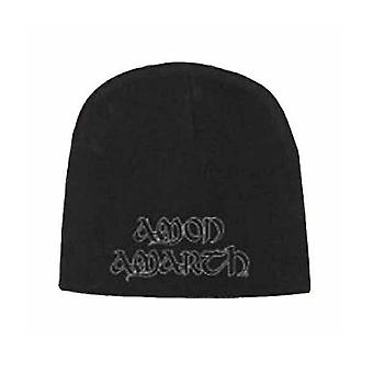 Amon Amarth Beanie Hat Cap White band Logo new Official black