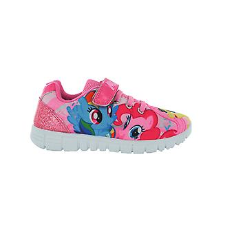 Girls MLP My Little Pony Pink Hook and Loop Trainers UK Sizes 6 - 12