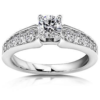 3/4 ct ダイヤモンド婚約指輪 14 K ホワイトゴールド