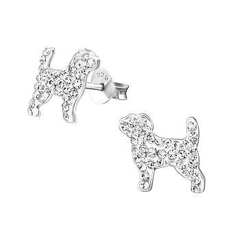 Hunden - 925 Sterling sølv Crystal øredobber