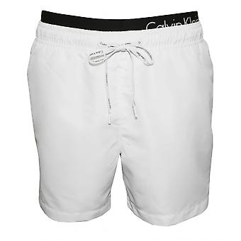 Calvin Klein Double Waistband Swim Shorts, White