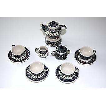 Lalka kompletna usługa, 4 miejsc, czajniczek cieplej, mleka, cukru, tradycji 1, BSN m-1888