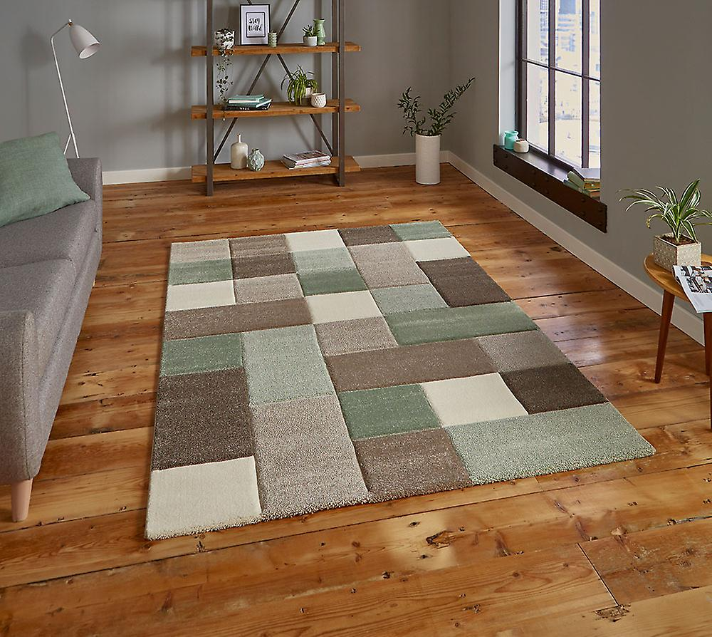 Brooklyn 646 Rectangle vert Beige tapis tapis modernes