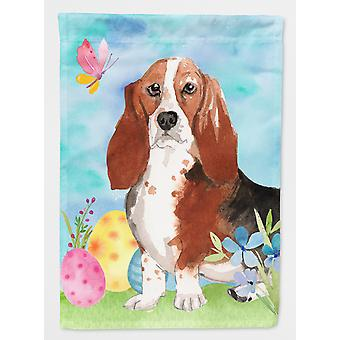 Carolines Treasures  CK1927CHF Easter Eggs Basset Hound Flag Canvas House Size
