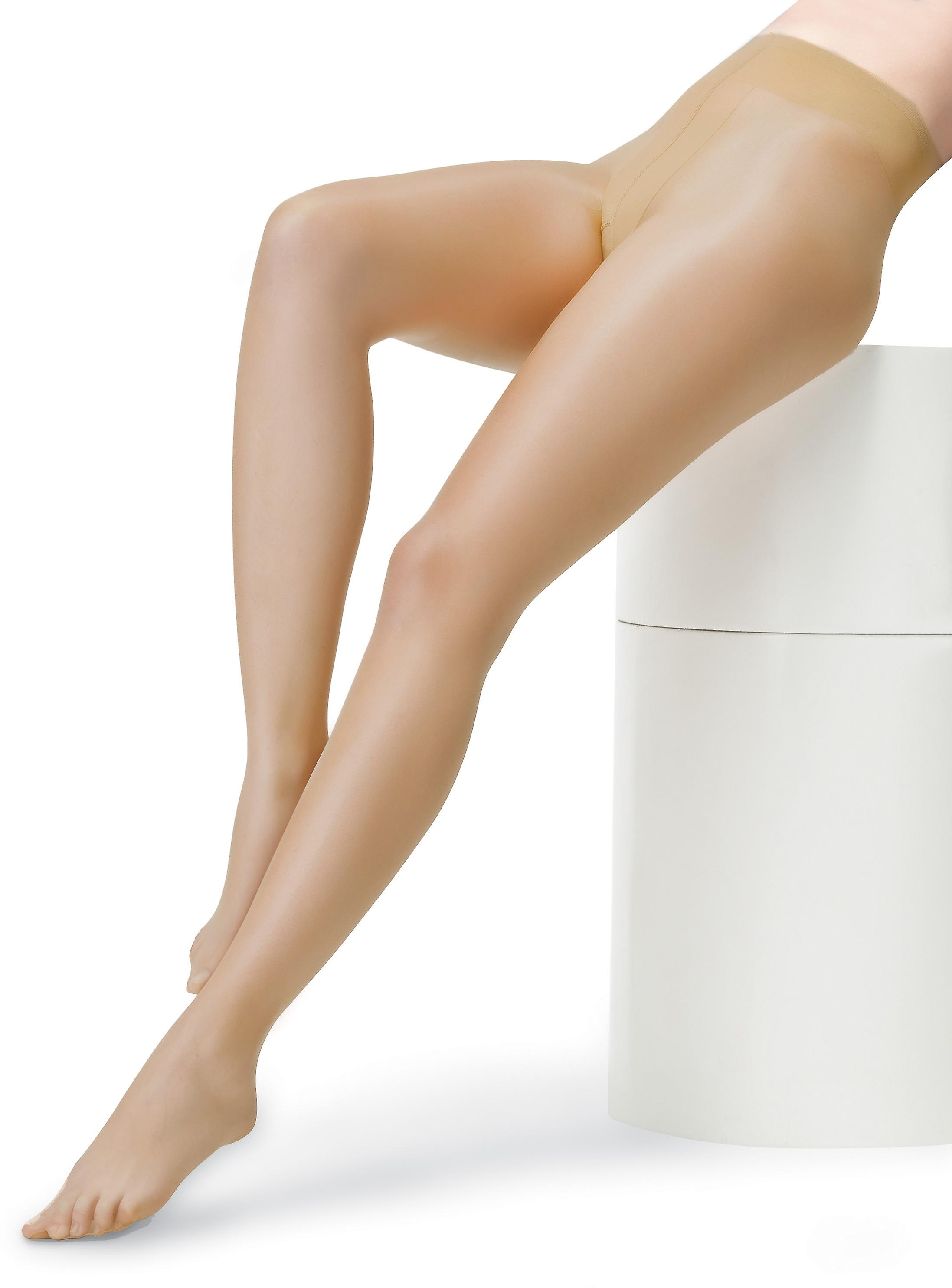 Smooth shine anti cellulite look pantyhose one-coloured high-tech seam 8-10 THE