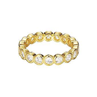ESPRIT women's ring Guld Silver cubic zirconia omfamning ESRG92348B1