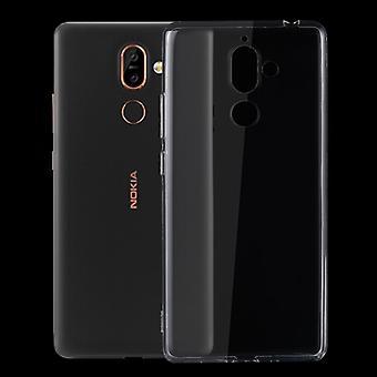 Silikoncase Transparent 0,3 mm Ultradünn Hülle für Nokia 7 Plus Tasche Cover Neu