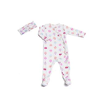 Baby Grey 2-piece Footie & Headband Set  by Everly Grey