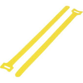 KSS MGT-240YW Hook-and-loop cable tie for bundling Hook and loop pad (L x W) 240 mm x 16 mm Yellow 1 pc(s)