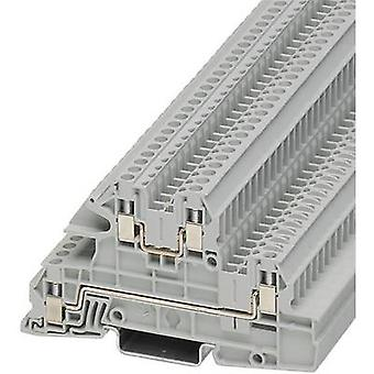 Phoenix Contact UTI 2,5-L/L 3076031 Industrial terminal block Number of pins: 4 0.2 mm² 4 mm² Grey 1 pc(s)