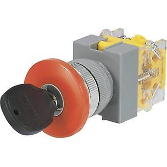 TRU COMPONENTS Y090-A-11YM/21 Key switch 250 V AC 5 A 1 x Off/On 1 x 90 ° 1 pc(s)