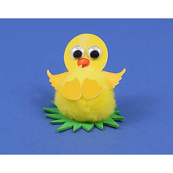 Yellow Easter Chick littlecraftybug Craft Kit for 10 Kids | Kids Pom Pom Crafts