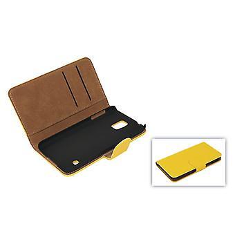 Dekking van de mobiele telefoon geval (flip Kruis) voor mobiele Samsung Galaxy S4 i9500 geel