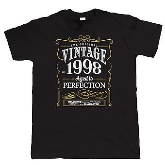 Vintage 1998 Aged To Perfection, Mens T Shirt