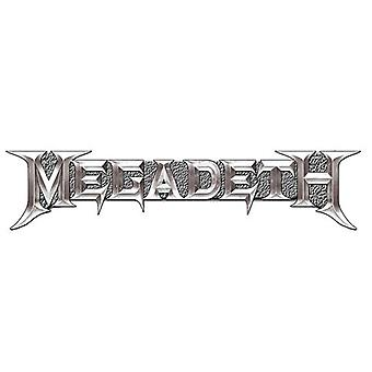 Megadeth Badge Classic Chrome Band Logo new Official Lapel Metal