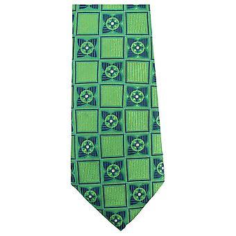 Knightsbridge halsdukar Square Flower Tie - Grön/Marinblå