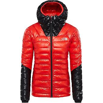 North Face Women's L3 Down Hoodie - Firey Red/TNF Black