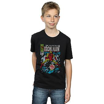Marvel Universe Boys Invincible Iron Man Distressed Issue One T-Shirt