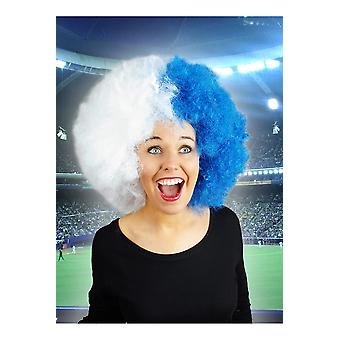 Wigs  Supporter wig blue white