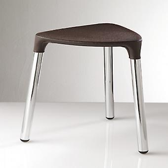 Gedy Yannis Stool Wenge Leather Chrome 2172 E9