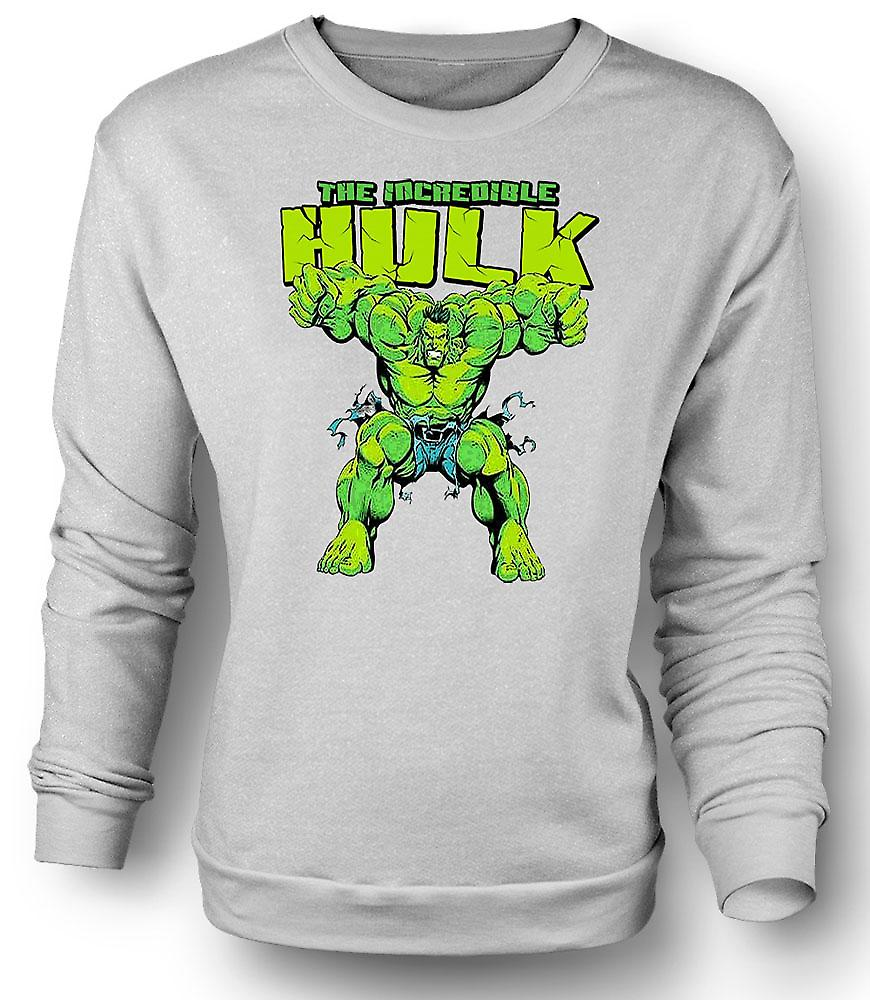 Mens Sweatshirt Incredible Hulk - komische held